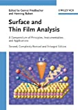 Surface and Thin Film Analysis, , 3527320474