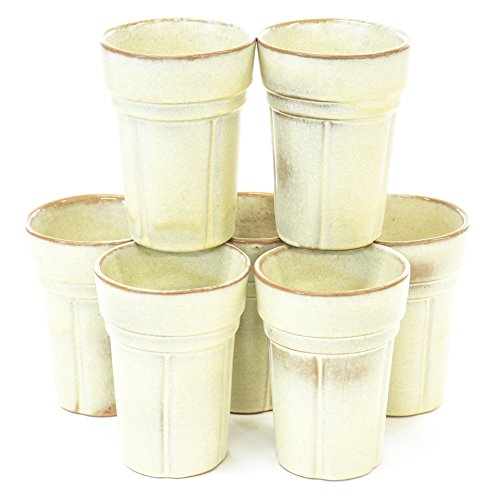 "Set of 7 Retro Vintage ""Frankoma"" Ceramic Cups"