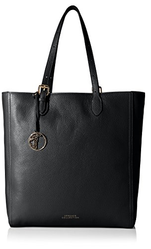 Versace Collection Women's Shopping Tote, Black/Light Gold (Versace Tote)