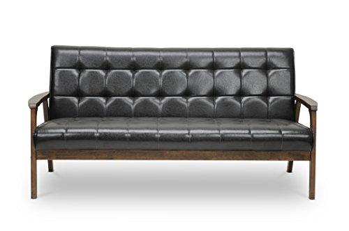 Baxton Studio Mid-Century Masterpieces Sofa, Brown