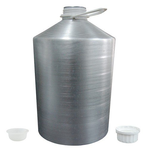 Air Sea Containers 25L (6 1/2 Gallon) UN Rated Aluminum Bottle with Caps
