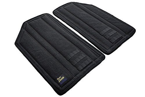 Price comparison product image 5pmClouds DNIK (Black Denim) Hardtop Headliner and Roof Insulation Kit for Jeep JK Wrangler Unlimited 4-Door (2011-2018) - Black
