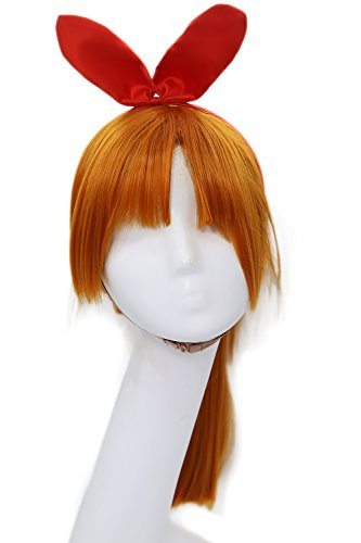 Powerpuff Girls Cosplay Blossom Wig Pre-styled Wig Hair Costume Accessories Xcoser (Blossom Powerpuff Girl Costume)
