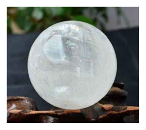 YIYICOOL NATURAL RAINBOW CLEAR QUARTZ CRYSTAL SPHERE BALL HEALING GEMSTONE (Gemstone Quartz Globe)