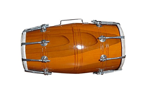 Symphony Music Handmade Wood Dholak Indian Folk Musical Instrument Drum Nuts N Bolt