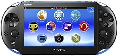 Sony Playstation Vita Wi-Fi 2000 Series with AC Adapter and Silicon Joystick Covers (Renewed) (Piano Black/Matte Blue) top rated Playstation