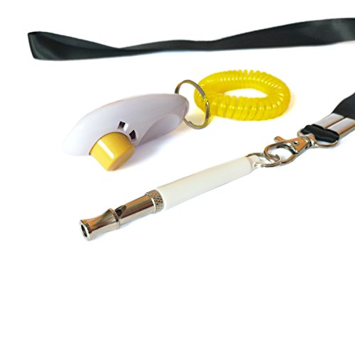 REXSONN Profession Silent Dog Whistle + Training Clicker to Stop Barking with Lanyard for Bird Cat Pet ()
