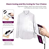 EASEHOLD Steam Iron Garment Steamer Clothes Steamer Handheld 2 in 1 Flat and Hang Dry and Steamer Ironing Portable for Travel Dewrinkle Fabric