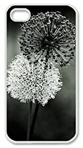 iPhone 5c Case, Black and White Dandelions Case for iPhone 5c PC Material White
