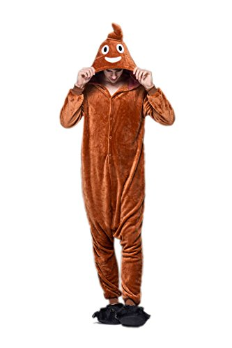 NHockeric Unisex Adult Poo Emoji Pajamas Emoticon Onesie Costume Sleepwear Size L]()