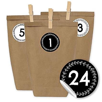 Weihnachten 2018 Mini Set Nr 42 Motiv Fu/ßballer Papierdrachen DIY Adventskalender zum selber f/üllen und basteln 24 Geschenkt/üten und 24 Zahlenaufkleber und Klammern