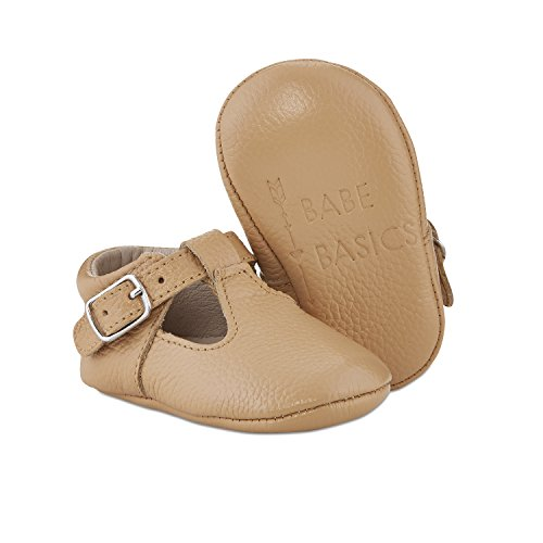 Babe Basics, Baby Girls Genuine Leather Mary Janes, Toddler Stylish Easy to Wear Footwear