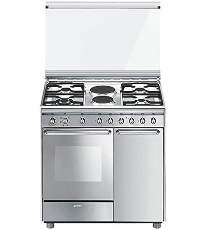 SMEG CUCINA CX92SV2 INOX 90X60 ELETTRIC cucina concerto inox -forno ...