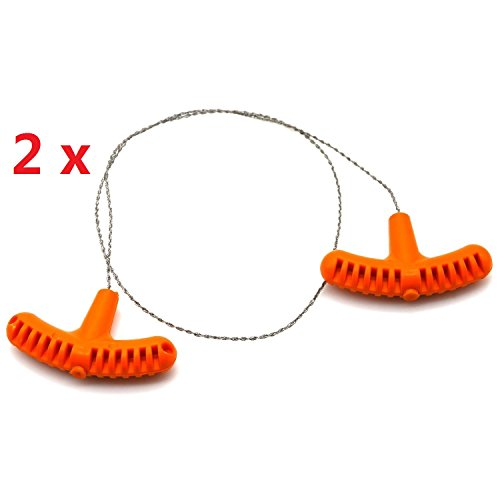 Big Save! Do4U 2 pcs Pocket Chain Wire Saws, Stainless Steel Portable Universal Survival Camping Han...