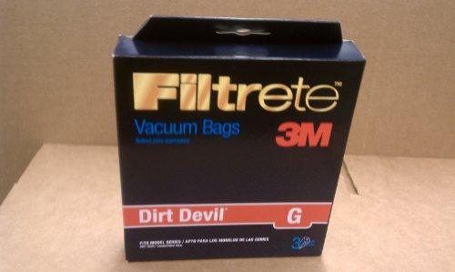 Filtrete 3M Dirt Devil Type G Vacuum Cleaner Bags 3-Pack