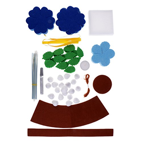 baoblaze PottedローズブーケニードルFeltingキットフェルトクラフトキットfor Kids子供Handwork材質の商品画像