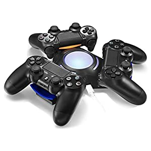 TNTi™ Triad Atom Charger - Playstation 4 DualShock Wireless Controller Charger with AC adapter