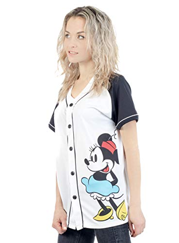 (Disney Minnie Mouse Woman's Jersey Shirt Button Front Back 28 (Minnie, X-Large))