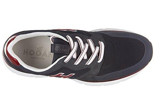 Hogan chaussures baskets sneakers homme en cuir h254 h flock blu