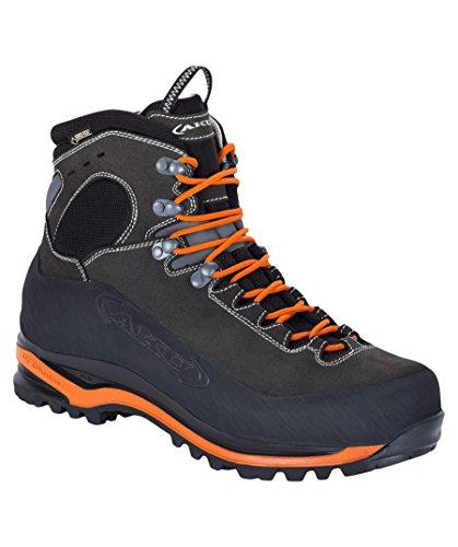 Aku Gore-tex Superalp Gtx 593 Scarpe Da Trekking In Pelle / Rete Antracite Arancione