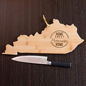 Gifts Engraved Personalized Home Sweet Home Kentucky State Cutting Board