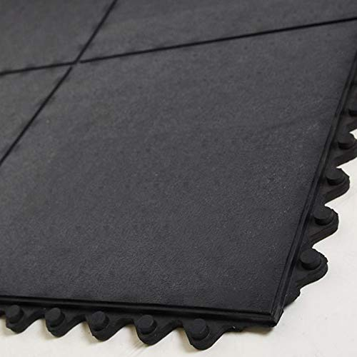 Ergocell Interlocking Rubber Floor Mat - Insulating, Waterproof Rubber Matting for Rubber Garage Floor Mat, Gym Flooring & Horse Stall Mats | Indoor & Outdoor | 3/5