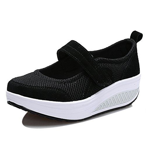 Enllerviid Mary Jane Toning Scarpe Da Passeggio Forma Fitness Sneakers 1840 Nere