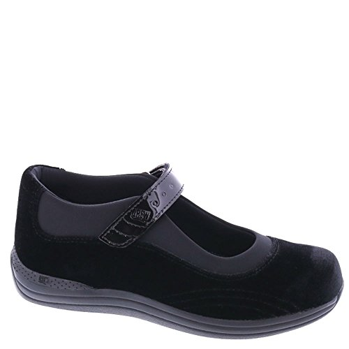 Drew Shoe Women's Rose Casual Mary Janes, Black, Leather, Foam, Spandex, 13 WW (Drew Leather Mary Janes)