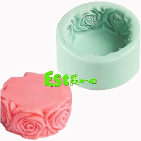 Silicone Candle Mould DIY 3D Flower Mold S0140 - Flower Silicone Candle