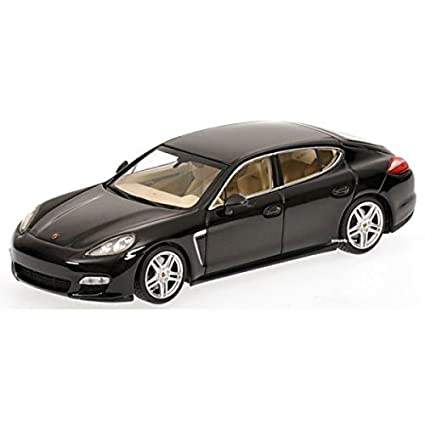 2011 Porsche Panamera Turbo in Black Diecast Model Car in 1:43 Scale