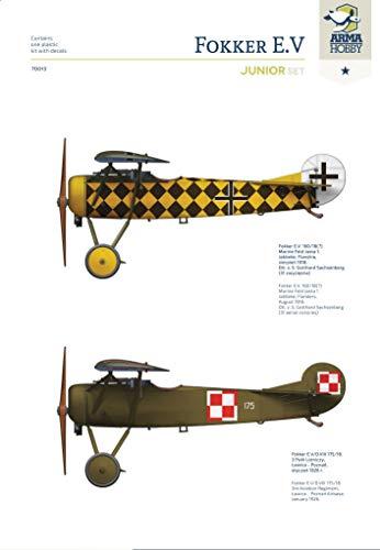 Arma Hobby 1/72 Scale Fokker E.V Junior Set - Airplane Series Plastic Model Kit #70013 3