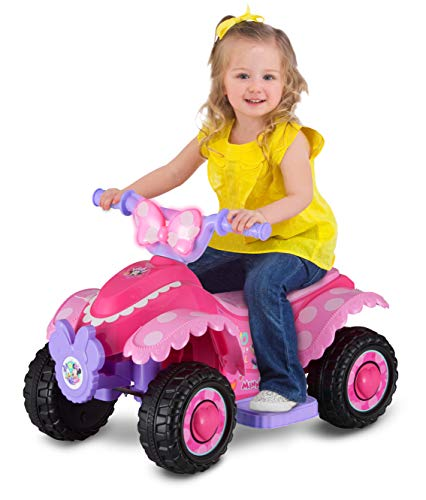 Disney Minnie Mouse Happy Helpers 6V Battery Powered Ride-On Quad (Styles May Vary) By Dreamsales