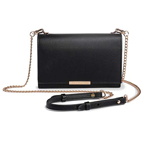 (Crossbody Wallet Women PU Leather Cellphone Purse Chain Strap Nail Clipper)