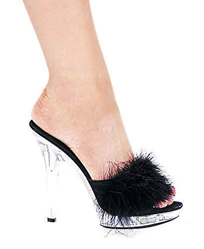 81e3ada035bd Ellie Shoes Women s 5 inch Heel Maribou Slipper (Pink ...