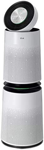 LG PuriCare 360-Degree Dual Filter Air Purifier with Clean Booster, ThinQ Wi-Fi and Voice Control (AS560DWR0), 512 sq. ft, White