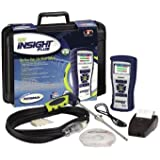 Bacharach INSIGHT Plus 0024-8518 Residential Combustion Analyzer Reporting Kit with Long-Life O2 Sensor, CO sensor, Probe, 8 AA Batteries, 4 AA Batteries, Rubber Boot, Spare Filters, IrDA Printer, USB Cable, User Software, and Hard Carry Case