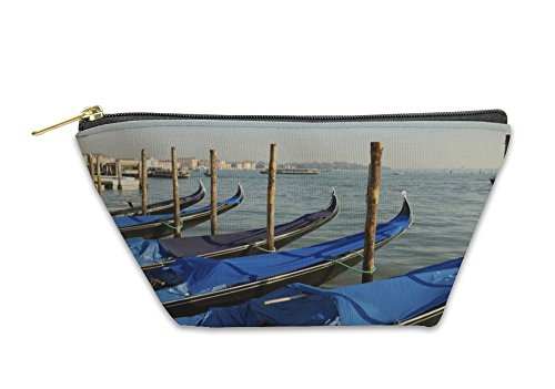 Gear New Accessory Zipper Pouch, Venice Italy Piazza San Marco Gondolas Gondola Summer Sunny Day New Keyword, Large, - Italia Day Independent