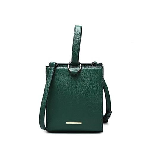 Handbags Women Messenger Bag Small Shoulder Crossbody Bags Round Ring Newest Tote Green 170x205x105mm by JJHDQ