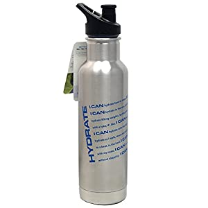 Klean Kanteen Classic Insulated 20oz Stainless Steel (18/8) Water Bottle With Sport Cap And Custom Hydrate Graphics