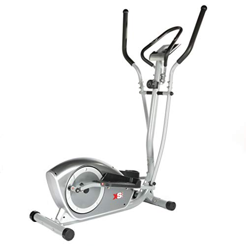 XS Sports CT700 Magnetic Deluxe Elliptical Cross Trainer - 5.5kg 2 way Flywheel, Tablet Holder, Heart Rate Sensors, Computer (Silver)