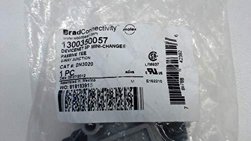 LOT OF 9 Woodhead Molex 1300350057 Devicenet 5p Passive Tee