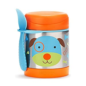 Skip Hop Baby Zoo Little Kid and Toddler Insulated Food Jar and Spork Set, Multi, Darby Dog