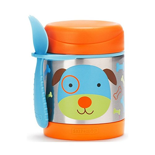 (Skip Hop Baby Zoo Little Kid and Toddler Insulated Food Jar and Spork Set, Multi, Darby Dog)