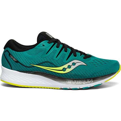 Saucony Men's Ride ISO 2 Running Shoe, Teal/Black, 10.5 M US