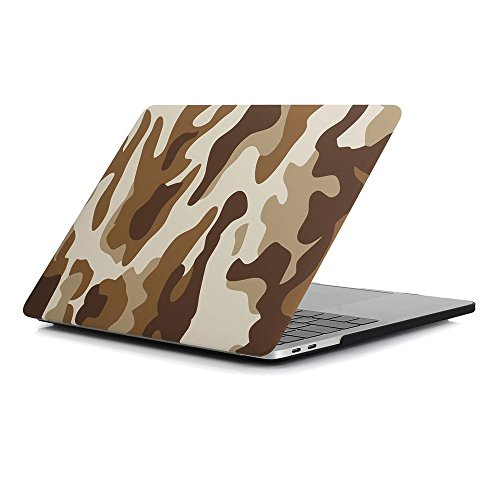 Macbook Pro 13 Case,Plastic Hard Case for Macbook Pro 13 inch A1706/A1708 with/without Touch Bar and Touch ID ( Release Oct 2016 ),Desert - Macbook 13 Pro Case Camo Retina