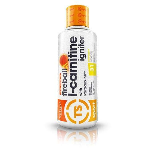 Top Secret Nutrition Fireball L-Carnitine Liquid Fat Burning Weight Loss Supplement with Paradoxine (16 oz) Pineapple