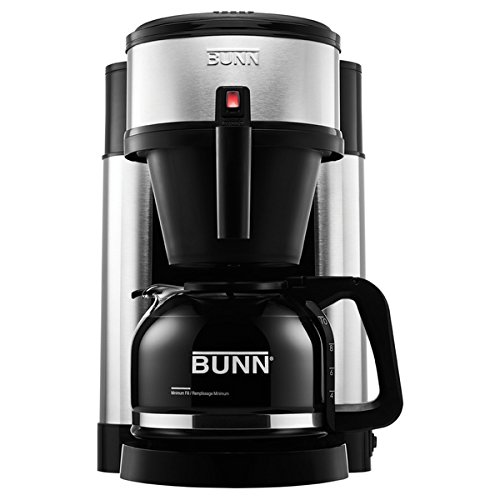 BUNN NHSB Velocity Brew 10-Cup Home Brewer, 13.7 inches high X 9.1 inches wide X 11.6 inches long