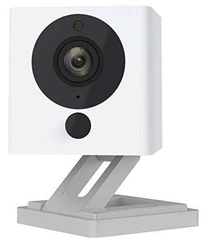 Wyze Cam 1080p HD Indoor Wireless Smart Home Camera with Night Vision, 2-Way Audio, White Full Hd 1080p