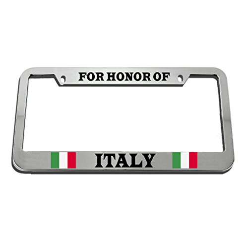 Speedy Pros For Honor Of Italy Italian Country License Plate Frame Tag Holder by Speedy Pros
