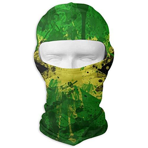 (Graffiti Jamaica Flag Thin Outdoor Sports Cycling Ski Balaclava Neck Hood Full Face Mask)